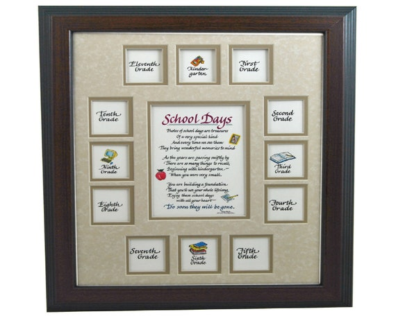 11x14 School Days Wood Picture Frame K 1213 Openings Cherry Etsy