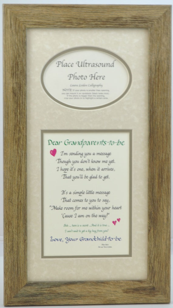 Grandparents to Be Ultrasound Frame 7x14 Dad Gift Father | Etsy
