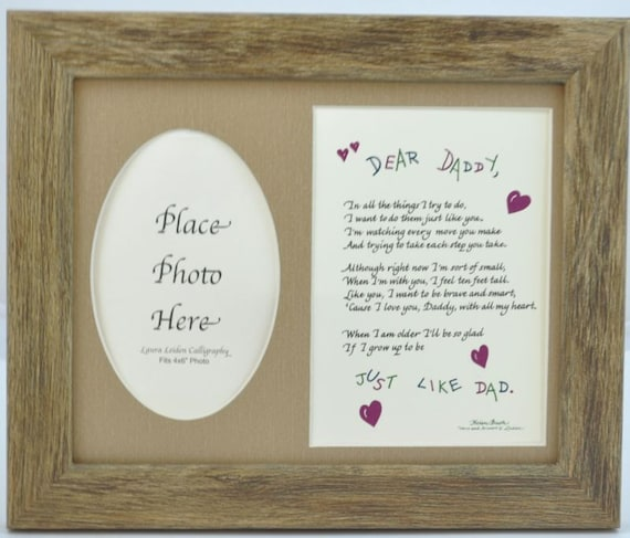 Dear Daddy Picture Frame Choose Frame and Mat Color | Etsy