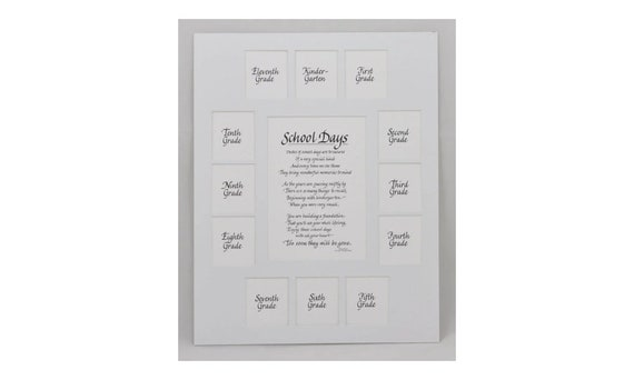 11x14 School Days Picture Mat K-1213 Openings frame NOT | Etsy