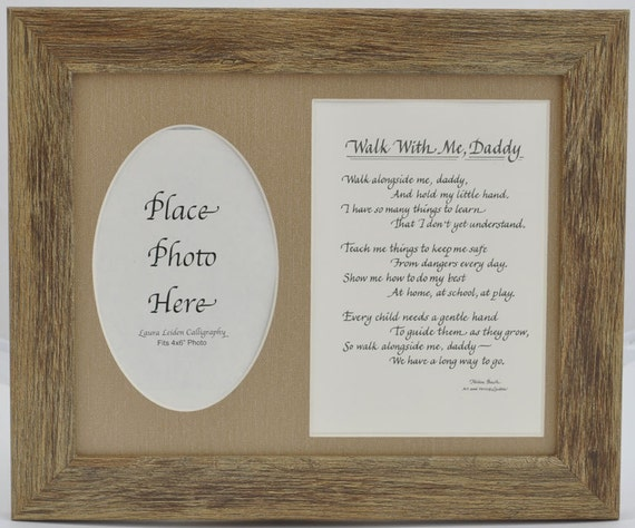 Walk with me Daddy Frame 8x10 Dad Gift from Child Son   Etsy