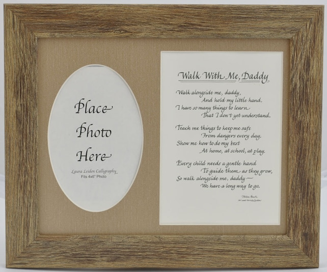 Walk with me Daddy Frame 8x10 Dad Gift from Child Son | Etsy