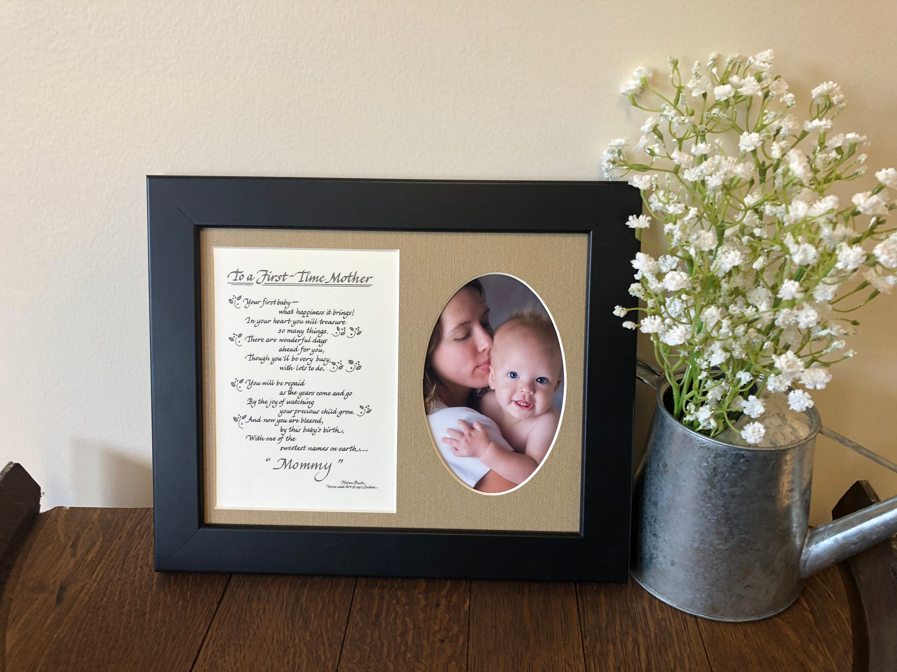 To a First Time Mother Poem Picture Frame 8x10 New Mom Gift