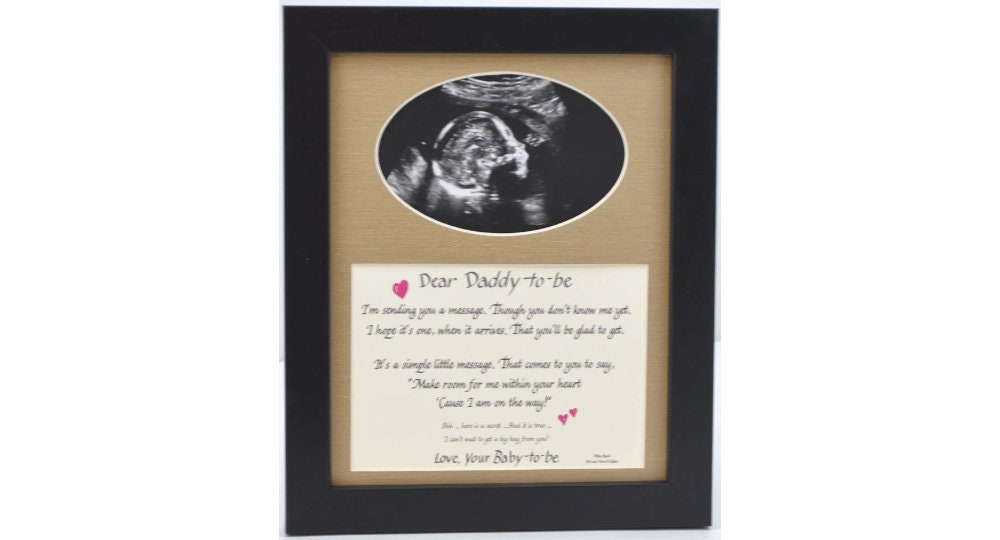 8x10 Daddy to Be Ultrasound Photo Desktop Frame Dad Gift