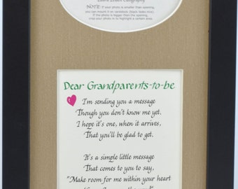 Grandparents to Be Ultrasound Frame 7x14,  Dad Gift Father Sonogram Picture