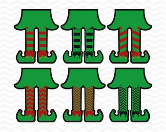 Elf legs svg, with shadow layer, Christmas svg files,  SVG, DXF, EPS, use with Silhouette Studio and Cricut Design Space. Vinyl cut files.