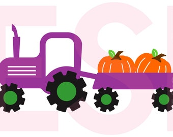 Thanksgiving svg, Tractor svg, Pumpkin svg, SVG, DXF, EPS, cutting files use with Silhouette Studio & Cricut Design space.