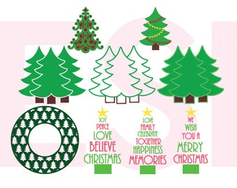 Christmas Tree svg, Christmas svg files, SVG, DXF, EPS,  for use with Silhouette Cameo and Cricut Explore.