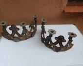 Antique 18th Century Spanish Iron Candlesticks