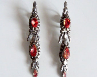 Spanish century 18th -sterling silver- earrings
