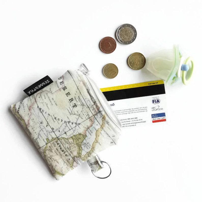 495d8284276 Klein sleutelhanger etui landkaart mini portemonnee   Etsy