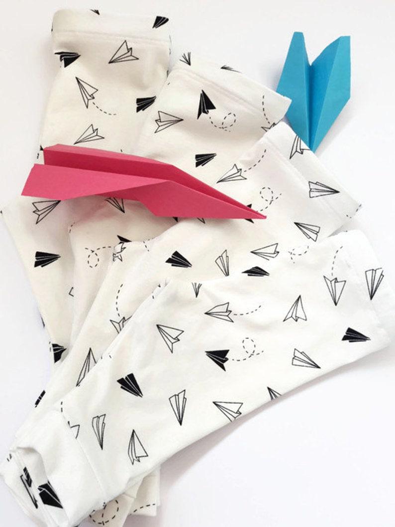 916df3cf273 Gender neutral baby pants 1-2M 4-6M, paper planes