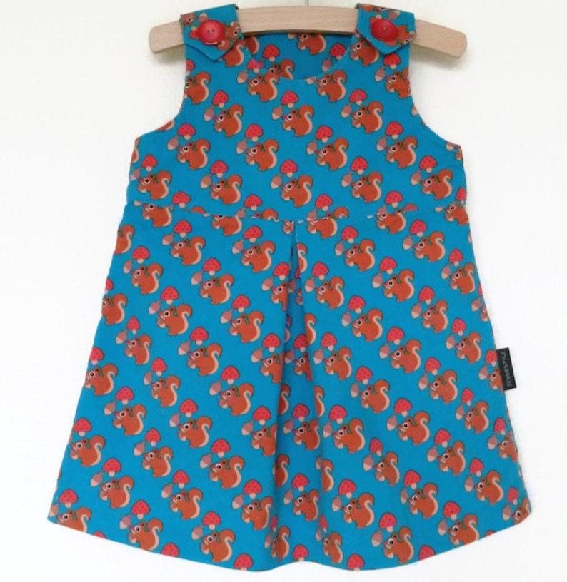 fd009f45774ec9 Baby jurk herfst winter maat 86 A-lijn jurk eekhoorns | Etsy