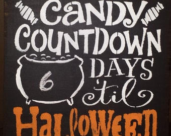 HALLOWEEN CANDY COUNTDOWN/Fall Signs/Chalkboard Sign