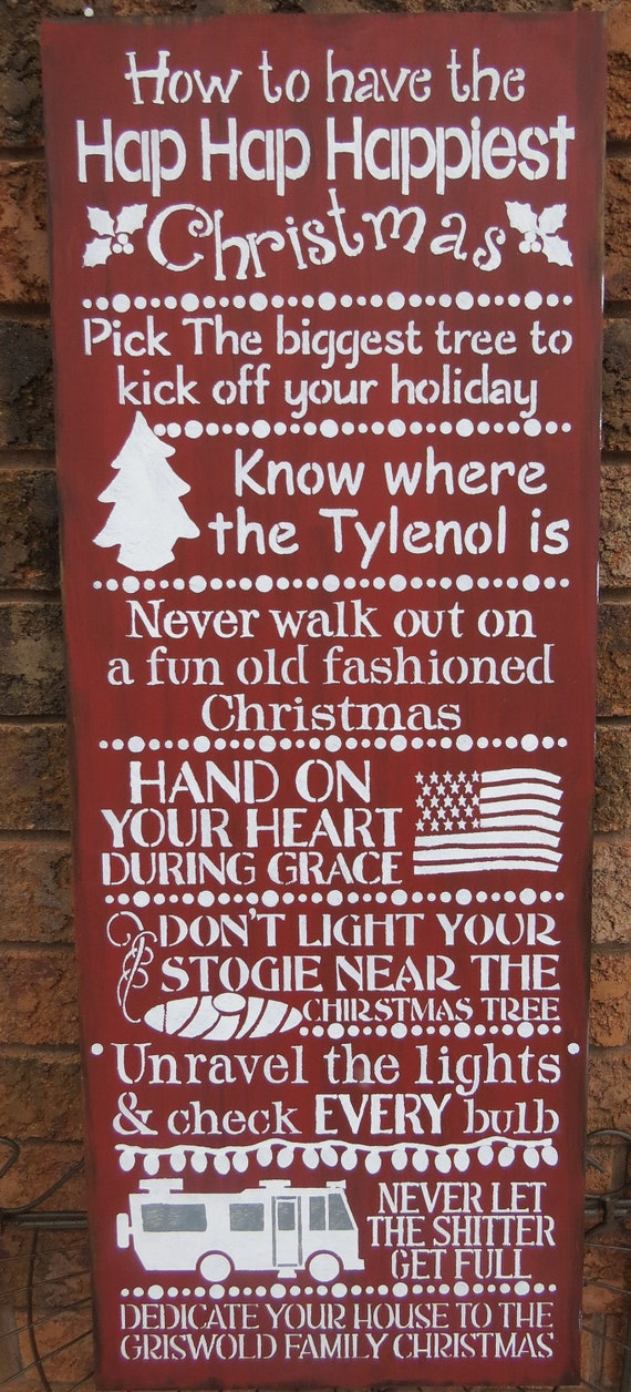 National Lampoons Christmas Vacations Sign Hostess House Warming Gift Gag Gift