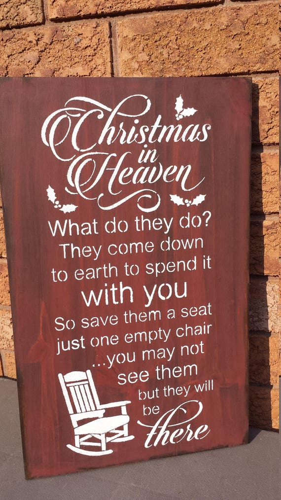 Christmas In Heavenheaven Quote Signmemorialsympathy Etsy