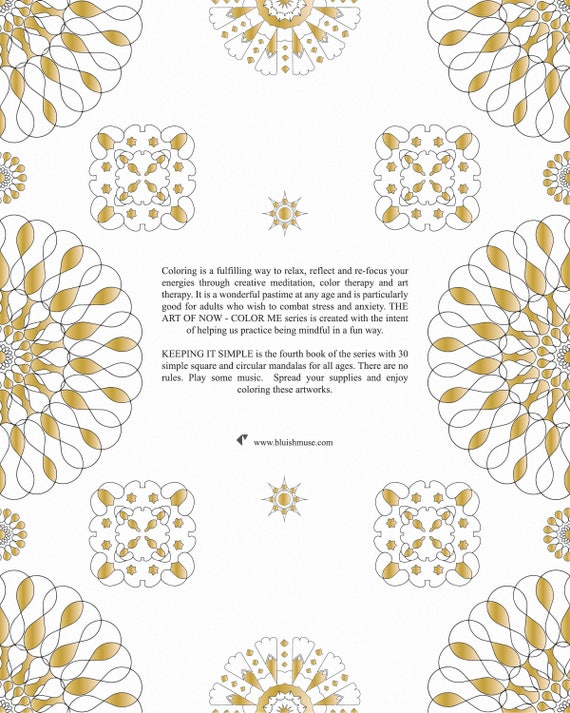 The Art Of Now Color Me Volume 4 Keeping It Simple Pdf Ebook Edition Coloring Book For All Ages To Enjoy The Joy Of Coloring