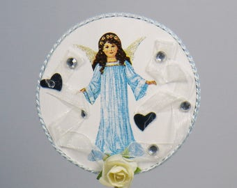 PIC decorative small hearts and ribbons Christmas Angel