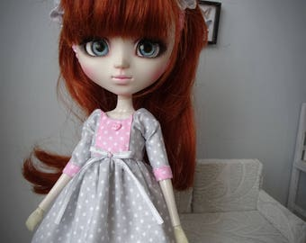 Set for Pullip.  Dress + hairband  + tights .