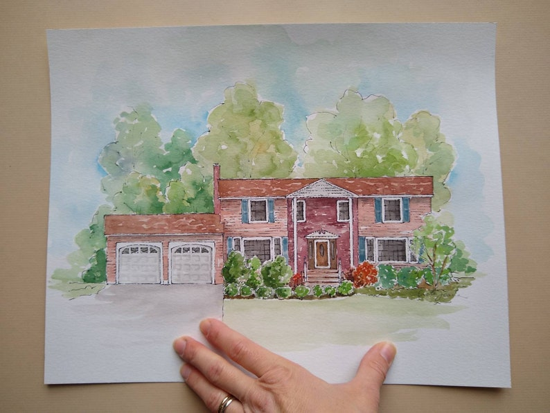 House Portrait Painting Watercolor House Portrait from Photo Housewarming Gift New Home Realtor Closing Gift Painted House Portrait Gift