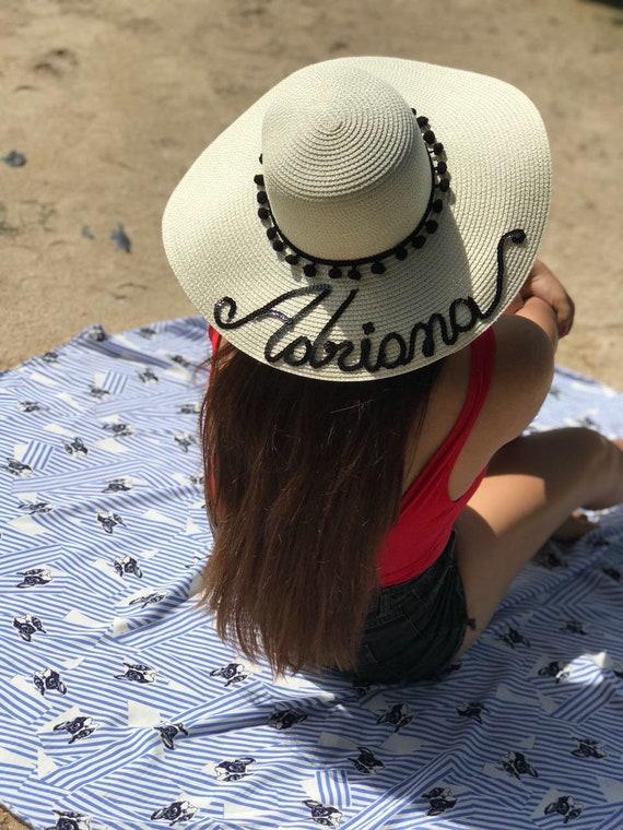 0bd0b7bdba6 sequins Luxury custom made sun hat Personalized floppy hat