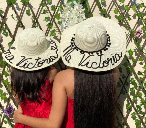 Luxury custom made kids toddler sun hat Personalized girls  e5ef7c383cb
