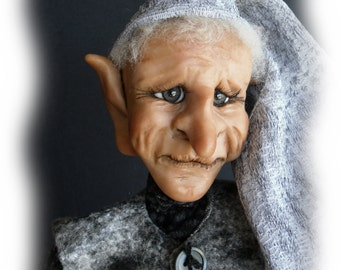 Eno, A OOAK Lil Darlin Original Elf from the Willow Hollow Series