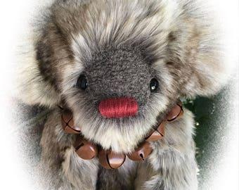 Rudolph, OOAK Artist Teddy Bear, BearFolk & Friends, Lil Darlin Original, Teddy Bear, Original Pattern, Handmade, Teddy Bear