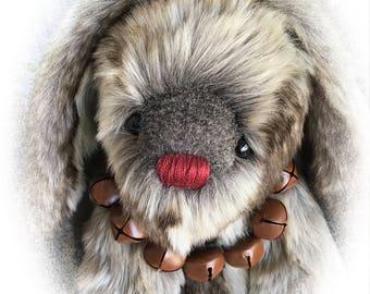 Belle, OOAK Artist Bunny, BearFolk & Friends, Lil Darlin Original, Bunny, Original Pattern, Handmade Bunny, Teddy Bear