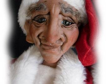 Errol, The Mall Santa, A OOAK, Lil Darlin' Original BareFoot Santa, from the BareFoot Santa Series