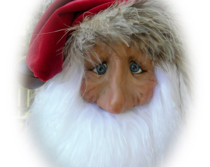 Featured listing image: Santa Ornament, Lil Darlin Original, Christmas Ornament, Santa Claus, OOAK Santa Ornament, Christmas, OOAK Art Doll, Handmade, EP