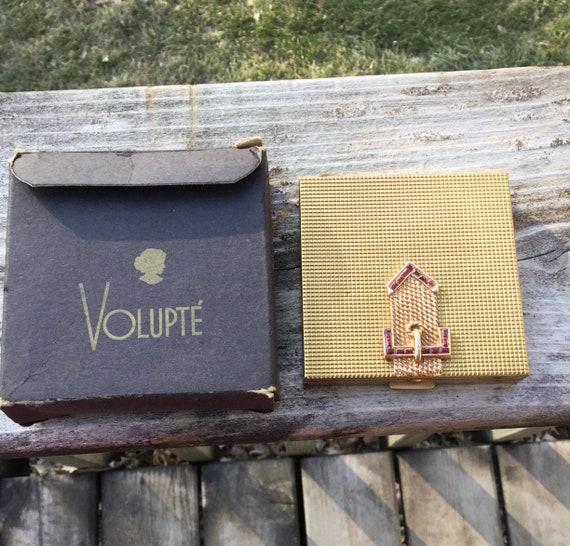 Volupte Vintage Compact, Buckle Compact, Original