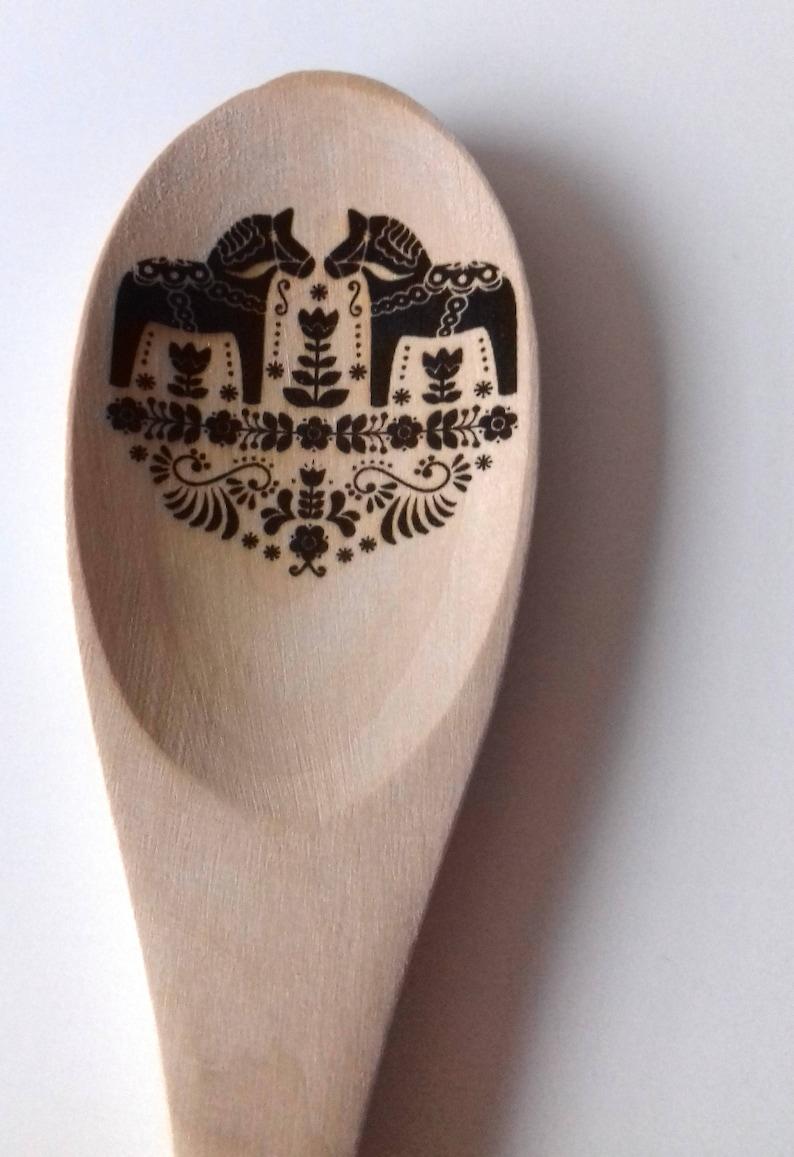 Folk Design Engraved Wooden Spoon