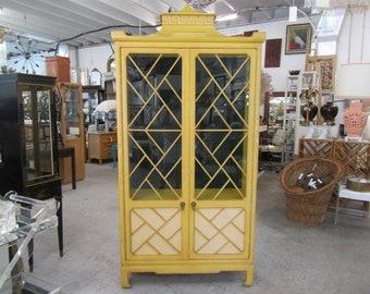 Greek Key Chippendale Pagoda Cabinet
