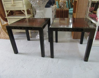 Asian Inspired Drexel Side Tables