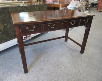 Traditional Fretwork Drexel Desk