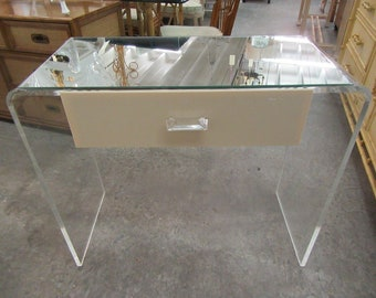 Lucite Waterfall Vanity Desk