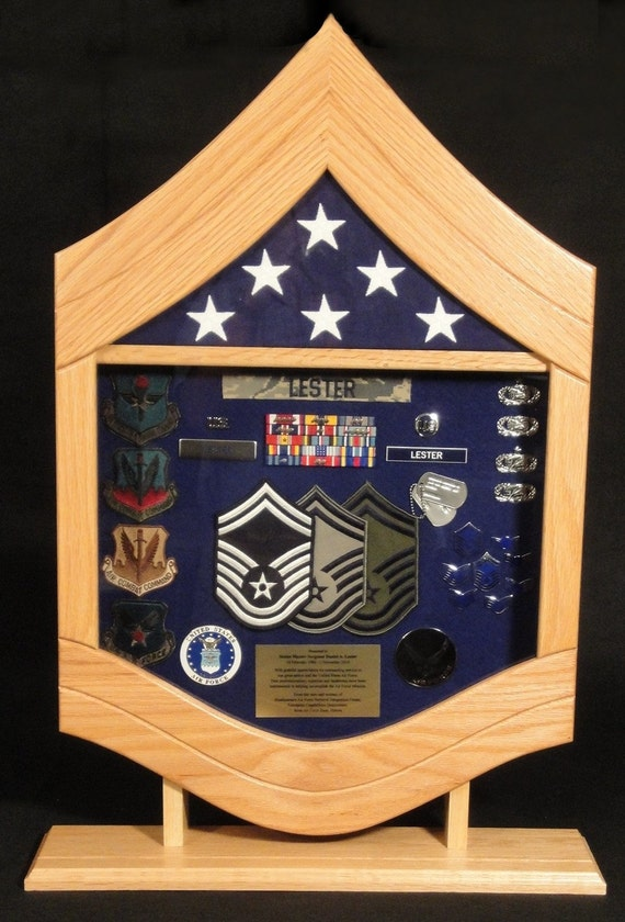 Air Force Senior Master Sergeant E8 Shadow Box 3x5 Flag Etsy