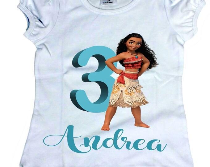Girl birthday  shirts Toddler shirts Moana shirt  Personalized  Moana shirts