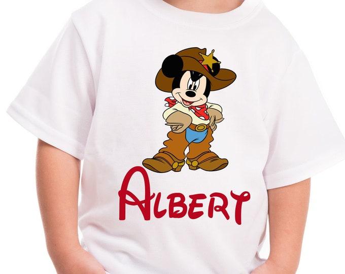 Mickey shirt Boys Cowboy Mickey shirt Boys Mickey birthday shirt Boys Disney shirt