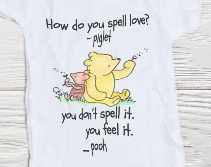 Baby Onesie  Pooh  Piglet Classic Pooh Piglet Onesie  Baby Shower Gift  Newborn Boy Outfit, Newborn Baby Girl