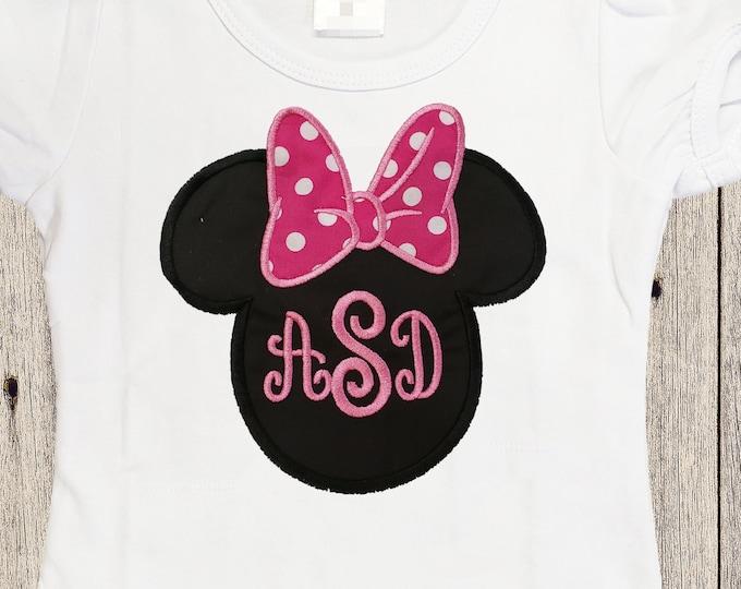 Birthday shirt  personalized shirt Girl customs Minnie inspired monogram shirt