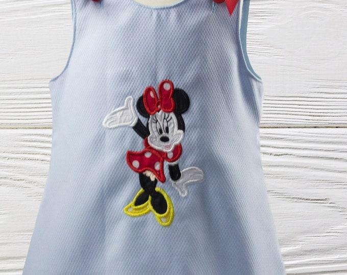 MINNIE BIRTHDAY DRESS - Minnie Mouse dress - Personalized dress -Toddler Dress - Only One - Ready to Ship
