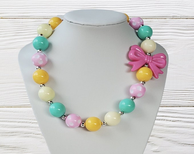 CHUNKY NECKLACE - Chunky Bubble Gum Necklace -Baby Girl Necklace- Birthday Necklace - Toddler Chunky Necklace- Girl Jewelry- Fancy Necklace