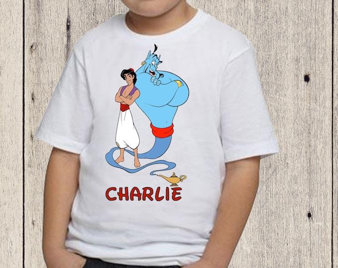 Aladdin  boys T-shirt Disney Aladdin personalized birthday shirt Genie Aladdin shirt