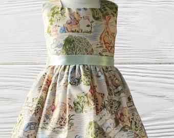 Winnie The Pooh Girls Dress | Winnie Pooh Girls Birthday Dress | Birthday dress |  Girls dress