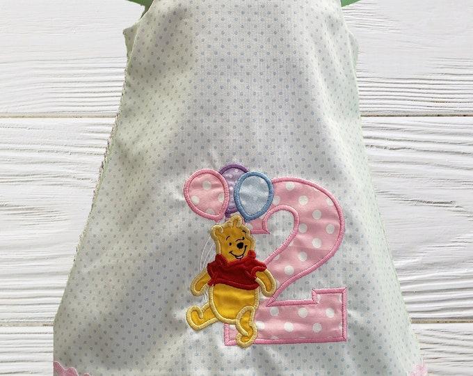 Winnie The Pooh birthday dress | Personalized Girls Dress |  Birthday baby dress | Pooh girls dress | Girls Jumper  Pooh  dress