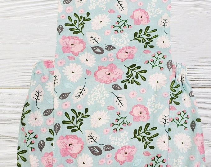 Baby girl romper - Blue and Pink floral romper - Girls romper - Floral baby romper - Baby clothes -Easter  Rompers for girls
