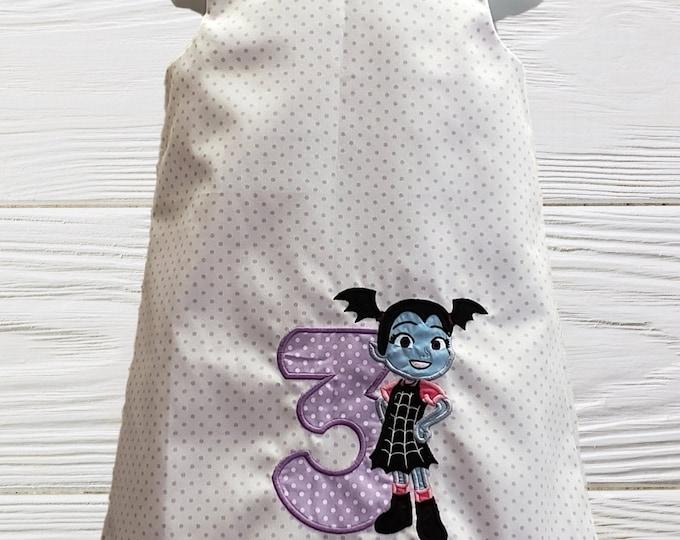 Vampirina dress Girl birthday dress  Personalized Vampirina dress Toddler Baby  A-line jumper dress
