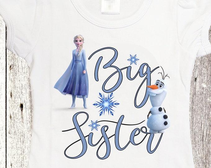 Big sister shirt Frozen big sister shirt custom sister shirts Elsa shirt
